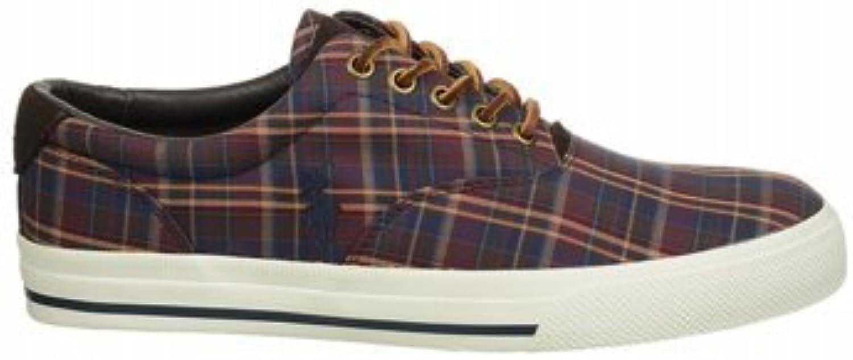 Polo Ralph Lauren Vaughn Por ata para arriba la zapatilla de deporte marrón / azul marino