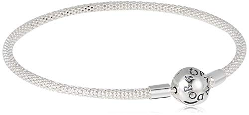 Pandora Damen Moments Mesh-Armband Sterling Silber 596543-19