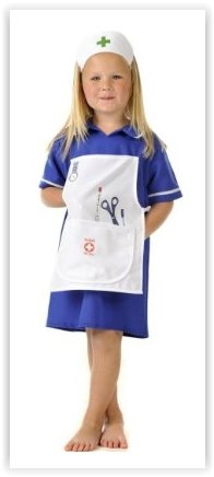 Nurse - Kids Costume 5 - 7 (999 Emergency Services Kostüme)