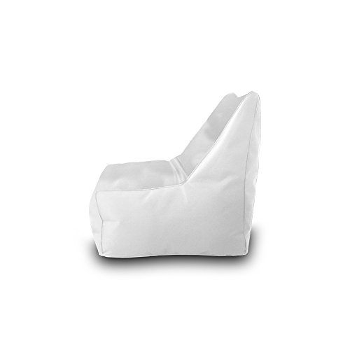 Pufmania Bean Bag Beanbag Chair Polyester Waterproof 75 x 75 cm (White)