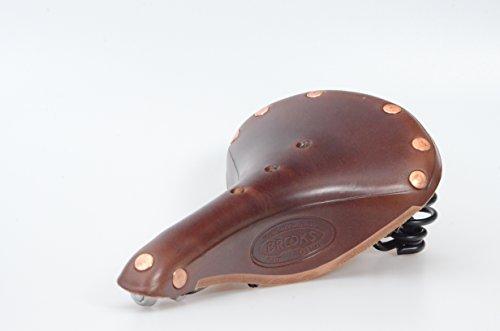 Braune Flyer (Brooks Fahrradsattel Flyer Special. Handwerkliche Qualität. Emaillierter Stahlrahmen. Braunes Leder, farblich passenden Kupfernieten. langlebig - komfortabel - chic)
