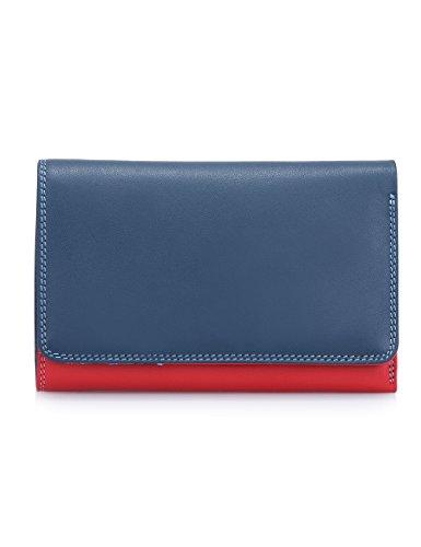Mywalit - leder damen Geldbörse - Medium Tri-fold w/outer zip purse - 363-127 Royal -