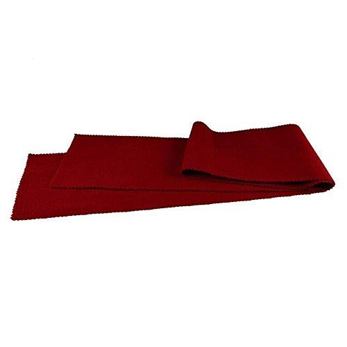 Staubabdeckung von Klavier/Keyboard, Tuch aus Wolle 127x 15cm (rot)