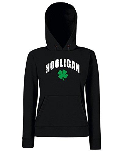 T-Shirtshock - Sweats a capuche Femme TIR0103 irish hooligan dark tshirt Noir