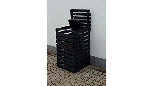 PROMADINO Mülltonnenbox, für 1x240 l aus Holz, B/T/H: 67/90/122 cm anthrazit