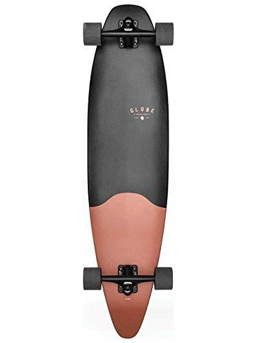 Globe Pinner Evo Skateboard/Longboard, Matte Black Coral, 40