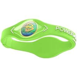 Power Balance IWSA09LMGRWTMP Original Performance Silicone Wristband, Medium (Lime Green/White)