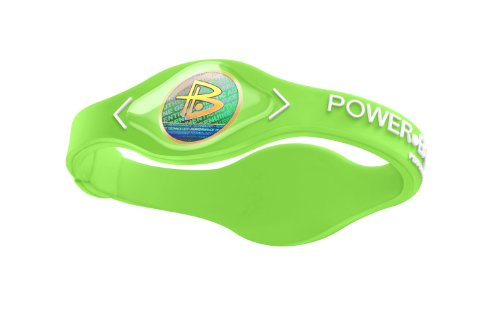 Green Clay Tennis (Power Balance Silicone Armband, neon green/white, S, 453)