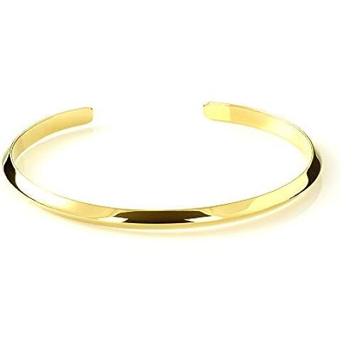 Mgd, 7mm de ancho Triángulo alambre Arm Cuff Pulsera ajustable–Tensiómetro de brazo, tono dorado latón, una talla para todos, joyería de moda para las mujeres,