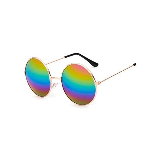 Sport-Sonnenbrillen, Vintage Sonnenbrillen, Retro Small Round Sunglasses Women Vintage Brand Shades Male Black Metal Sun Glasses For Female Fashion Designer Lunette MultiFarbeed