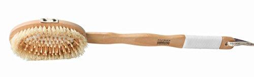 Globalbeauty - Brosse pour le bain et massage avec un long manche prise en caoutchouc