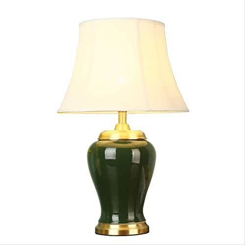 Lámpara de mesa de cerámica dormitorio lámpara de noche ...