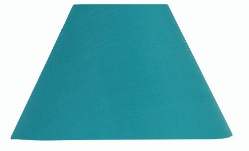 Oaks Lighting - Pantalla para lámpara (algodón, 40,6cm, estructura no incluida), color azul