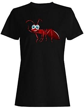 Nuevos Diferentes Tipos De Insectos Lindo camiseta de las mujeres h495f