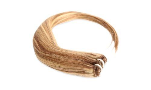 Tissage Brésilien Lisse méché blond foncé et blond clair 35cm 14 pouces
