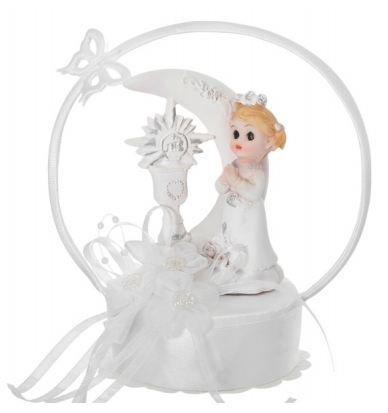 Tortenfigur zur Kommunion Tortendeko Tischdeko (Mädchen)