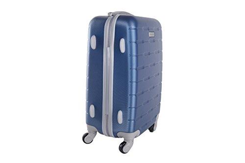 3 Maletas rígidas PIERRE CARDIN azul 4 ruedas cabina para viajes VS21
