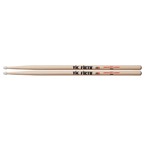 vic-firth-5a-american-hickory-nylon-tip-drumstick