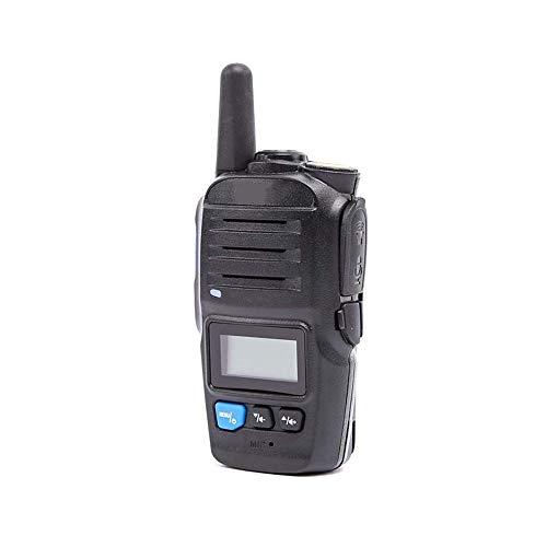 Mouwa GPS Walkie Talkie, Tragbare Long Range Walkie Talkie GSM / 3G-SIM-Karte Smart-PTT-Radio Real-Time Kommunikation Intercom Headset 10 Km Entfernung Talkback - Schwarz