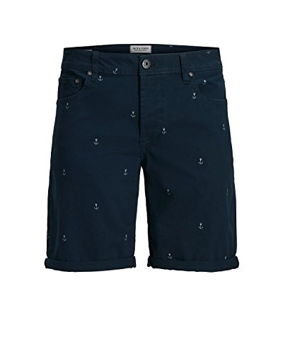 JACK JONES BERMUDA HERREN RICK ORIGINAL SHORTS MINI 12136275 s dunkelblau