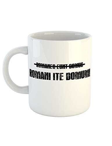 (clothinx Kaffeetasse mit Aufdruck Romani Ite Domum)