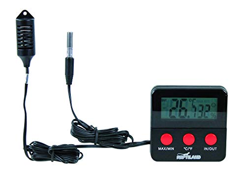 Trixie 76114 Digital-Thermo-/Hygrometer, fernfühlend, 6 × 6 cm -