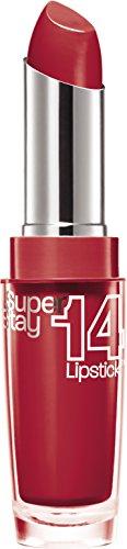 Maybelline New York Make-Up Lippenstift Superstay 14h Lipstick Ravishing Rouge / Edles Rot mit 14...