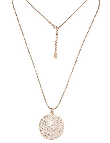 Leslii Damenkette Glitzer Wendekette aus Metalllegierung mit Strass Länge 84cm in Gold Weiß
