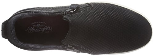 Wrangler - Sheena Slip On 3d, Sneaker basse Donna Nero (Schwarz (62 Black))
