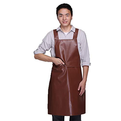 YUPPIE TONE Kochschürze Küchenschürze Männer Wasserdichte verstellbare Leder Schürze mit Tasche für Erwachsener,Küche,Haus,Gartenarbeit,Schreinerei,Grill -