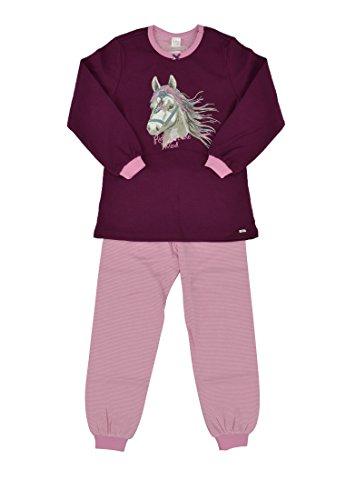 Kanz Mädchen Zweiteiliger Schlafanzug Lang, Animalprint, Gr. 98, mehrfarbig (purple potion, purple 7590)