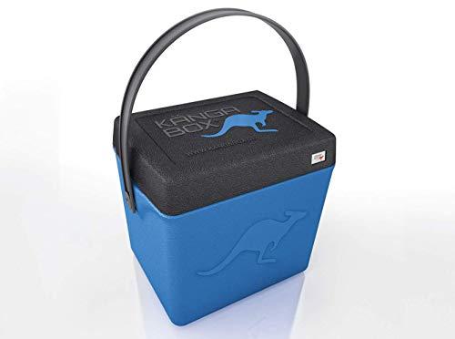 KÄNGABOX®Trip TP1310BU in Blau. Hochwertige Thermobox mit Henkel und nützlich als Hocker. Hält warm, kalt und heiß. Ultraleicht, extrem stabil. Große Innenhöhe mit 31 cm. Inhalt 20 Liter. Material EPP