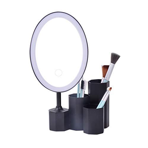 Sets et coffrets Boîte De Rangement Cosmétique avec Tiroir À Miroir De Maquillage Type De Stockage De Cosmétiques Étudiant Rack De Dortoir Cadeau (Color : Black, Size : 27 * 15 * 28.5cm)