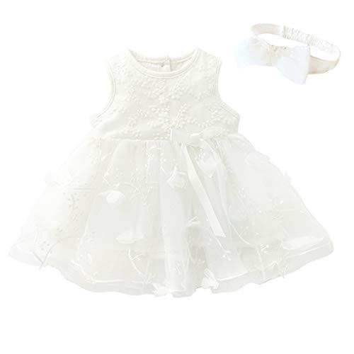 MEIbax Kinder Baby Mädchen Tutu Prinzessin Bowknot ärmellose Blumenkleider Taufkleid Mini Ballkleider Partykleid