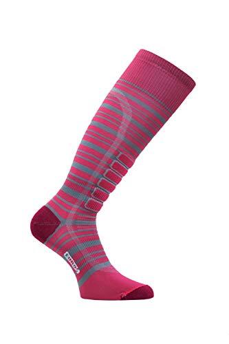 Eurosocks Unisex 802433008093 Silver Light Skiing Ski-Socken, pink/grau, X-Small -