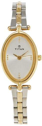 31uOxGmOf L - Titan NE2418BM01 Karishma Silver Women watch