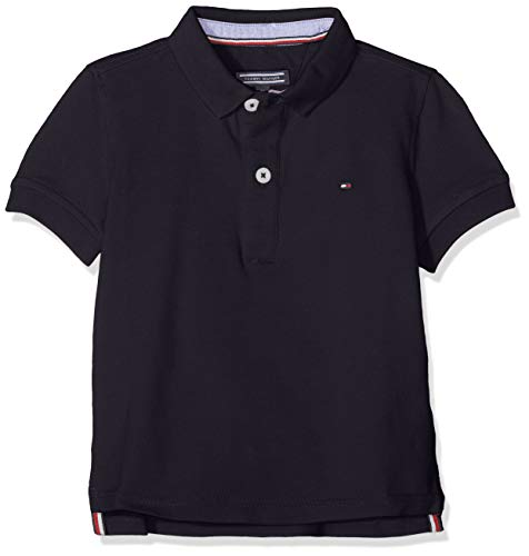 Tommy Hilfiger 867878433403 Polo Uni Manches courtes Homme Bleu (Midnight) Medium (Taille fabricant: M)