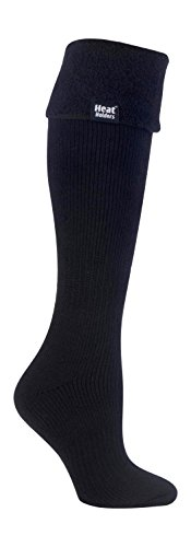 Heat Holders - Damen wärme winter thermosocken für gummistiefel stiefelsocken in 4 Farben 37-42 EUR (New Long Boot), Black, Medium (Beste Frauen-schnee-stiefel)