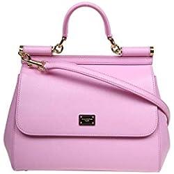 Dolce E Gabbana Mujer Bb6002a10018h411 Rosa Cuero Bolso De Mano