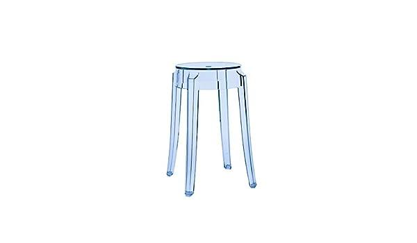 Kartell sgabello charles ghost blu trasparente cm amazon