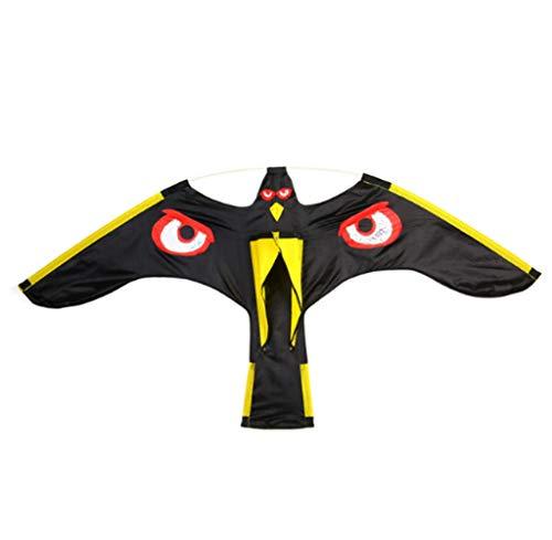 BYSDSGBlack Bird Repeller Fliegen Hawk Kite Lockvogel Insekten Schädlingsbekämpfung Für Vogelscheuchen Hof Garten Liefert, A