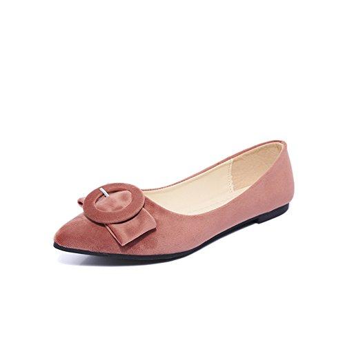 Belt buckle pointus appartements peu profondes au printemps en Europe et en Amérique/Joker plat chaussures femme/Chaussures de Doug B