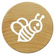 Woodies Holz Mini-Stempelkissen, Bee, 1,5x 1,5x 3cm (Stempelkissen Schaumstoff)