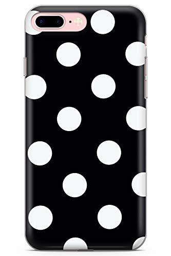 iPhone 7 Plus / 8 Plus Negro Elegante del Lunar Funda de Teléfono de Goma Cover Moda Linda Tendencias Chicas Estilo