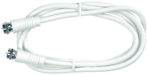 Axing SAK 500-02 SAT-Anschlusskabel F-Stecker, doppelt geschirmt, 5 m weiß