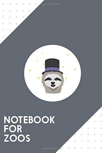 Notebook for Zoos: Dotted Journal with Sloth Wizard with hat Design - Cool Gift for a friend or family who loves magic presents! | 6x9