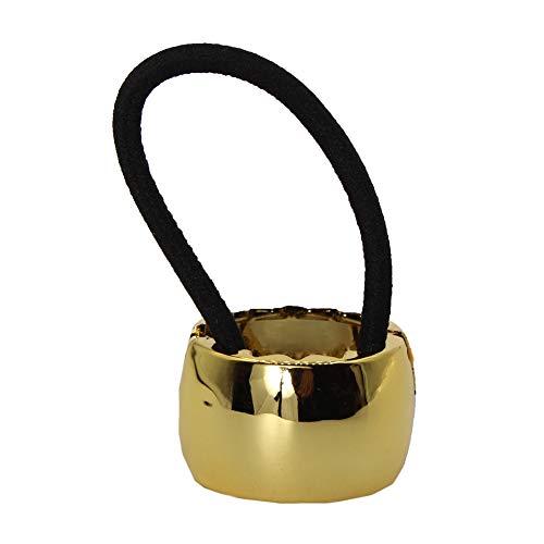 Haargummi Ring Cleopatra Zopf Scrunchy Pferdeschwanz Haarring Hair, Farbe: Gold