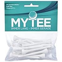 MYTEE Premium Golf-Tees 72mm | 20 Stück | Kunststoff-Tee Plastik Distanztee robust Golfzubehör Equipment Sport-Zubehör Profi und Hobby Golfer