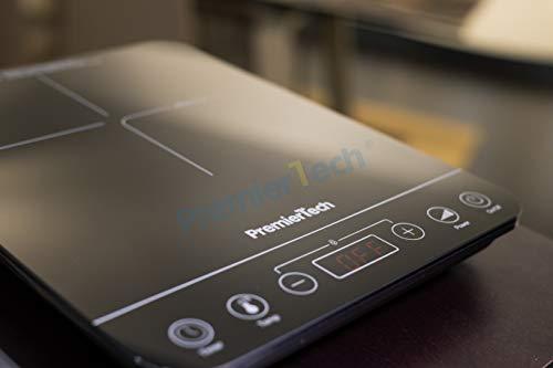 PremierTech Piastra a Induzione portatile PT-PI1 Fornello induzione Controlli Touch Display led 10 livelli di potenza 2002000watt Timer 180min 4cm spessore
