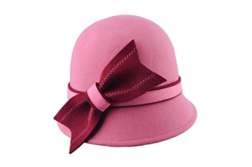 Europe Le Printemps Et L'automne Les Femmes Les Chapeaux De Laine Des Chapeaux De Feutre Des Chapeaux De Seau Petit Chapeau Banquet Chapeau pink